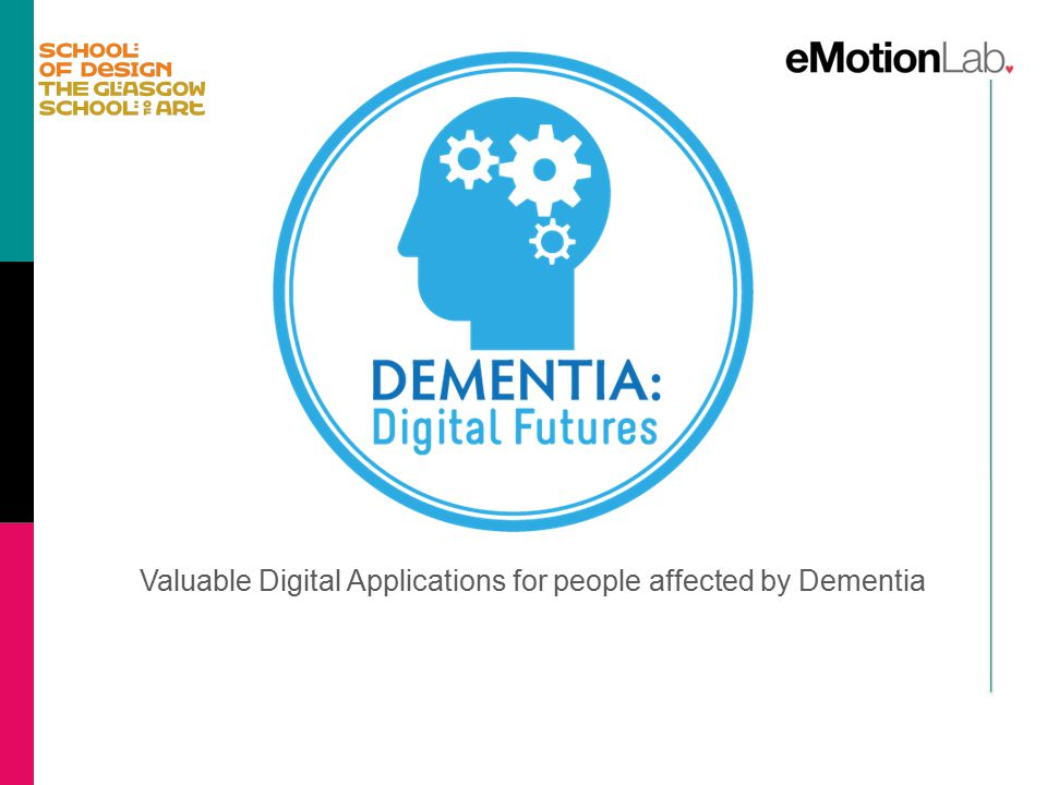 Valuable Digital Applications for people affected by Dementia