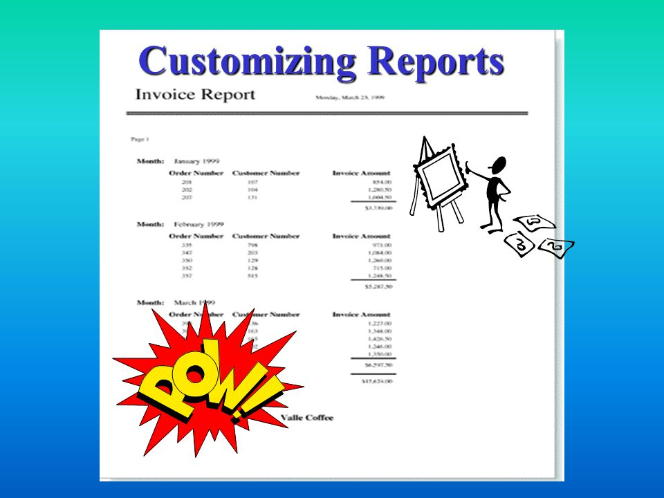 Customizing Reports