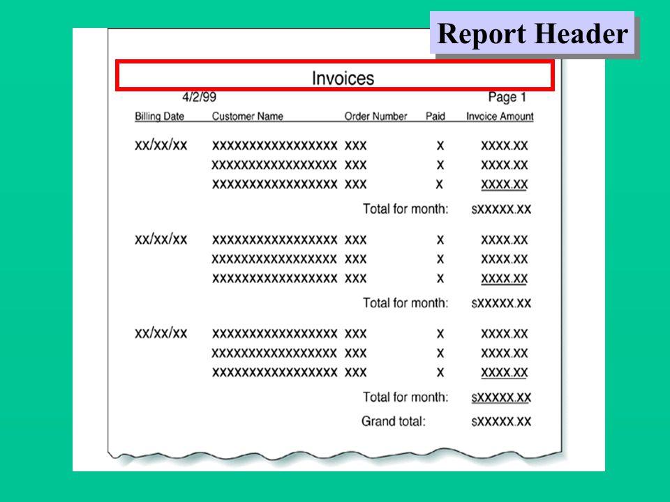 Report Header