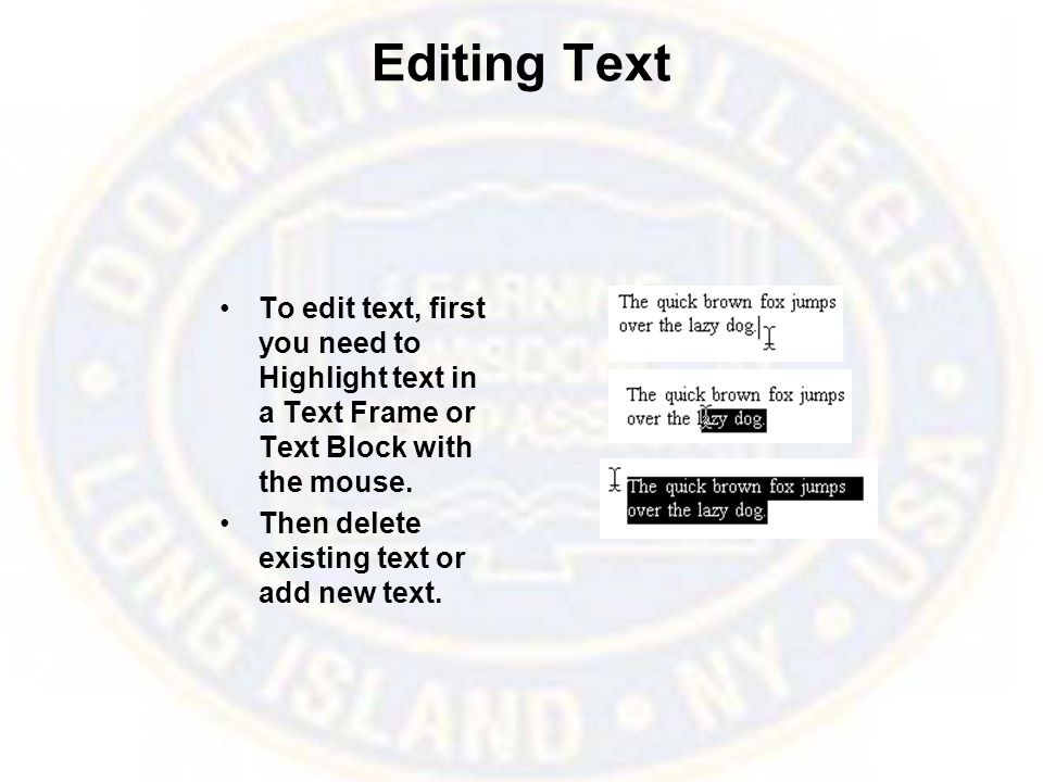 Text Control Palette In the Character View click one of the font options in the Control palette.