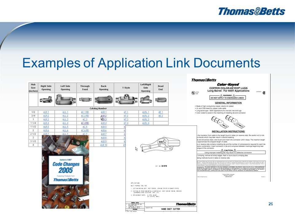 26 Examples of Application Link Documents