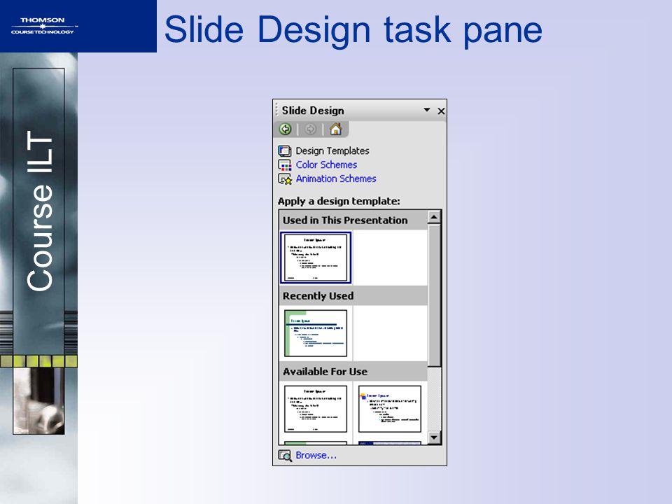 Course ILT Slide Design task pane