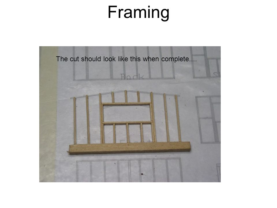 Framing The cut should look like this when complete....