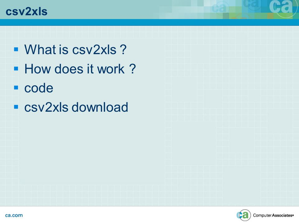 csv2xls  What is csv2xls  How does it work  code  csv2xls download
