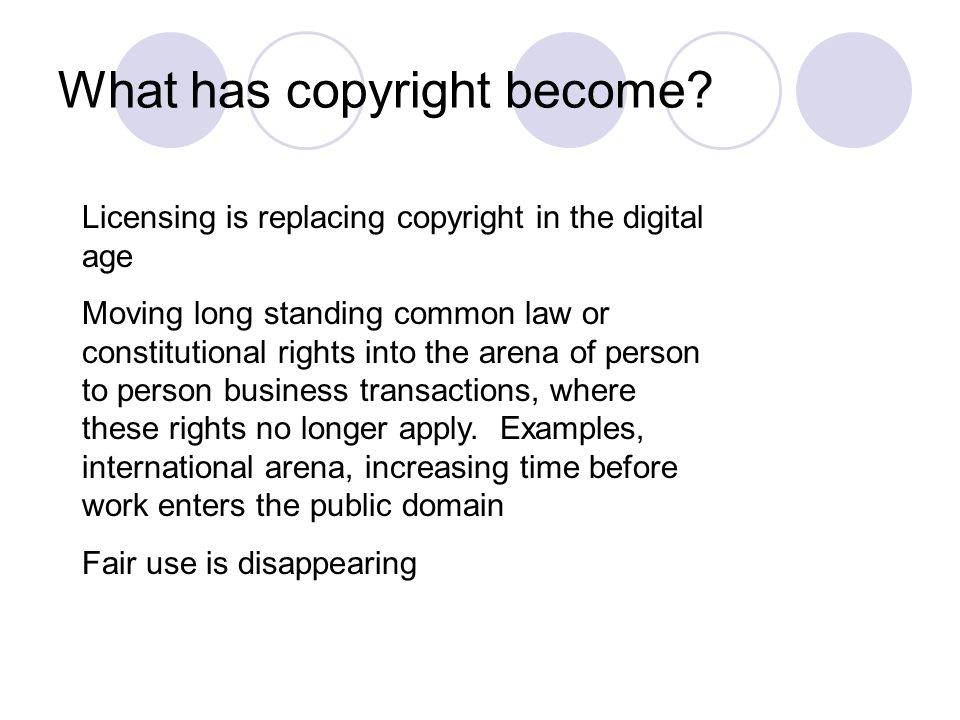 What has copyright become.