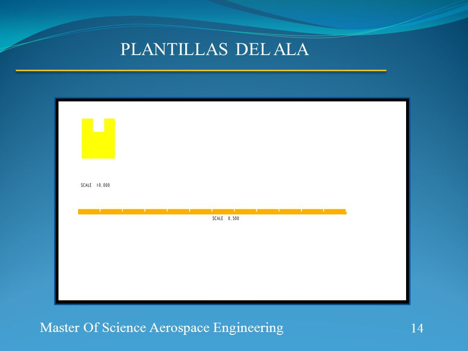 Aerospace Prototype Generation PLANTILLAS DEL ALA 14 Master Of Science Aerospace Engineering