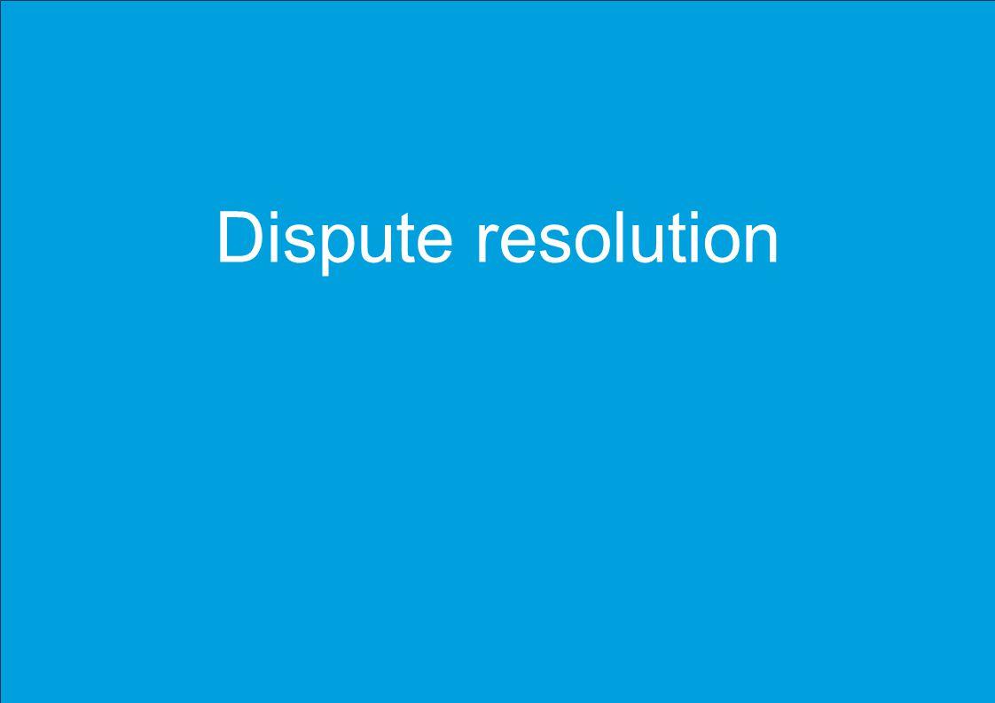 Please insert / update footer Dispute resolution