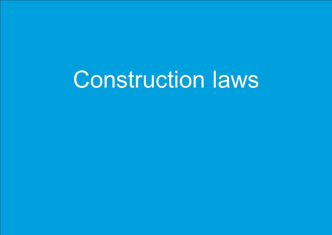 Please insert / update footer Construction laws
