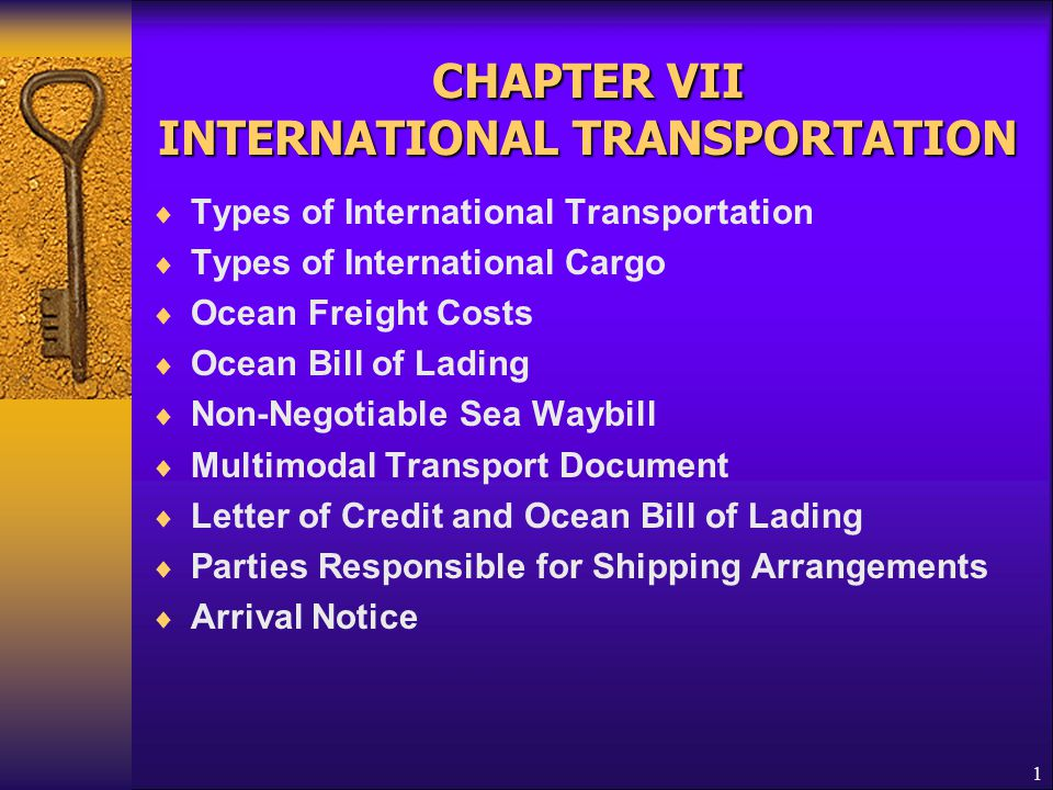 22 Letter of Credit and Ocean Bill of Lading  A multimodal bill of lading (continued)  It must also appear to  indicate the place of dispatch, taking in charge or shipment and the place of final destination stated in the Letter of Credit, even if it states, in addition, a different place of dispatch, taking in charge or shipment or final destination or it contains the indication intended as to the vessel, port of loading or port of discharge  meet other terms & conditions of a standard bill of lading