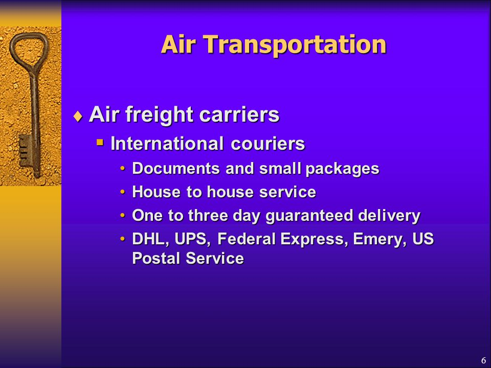 7 Ocean Transportation Least expensive transportation mode Faster, more fuel-efficient vessels  Shipping lines  Own or lease the cargo vessels  Operate the cargo vessels  Belongs to Conference or Non-conference
