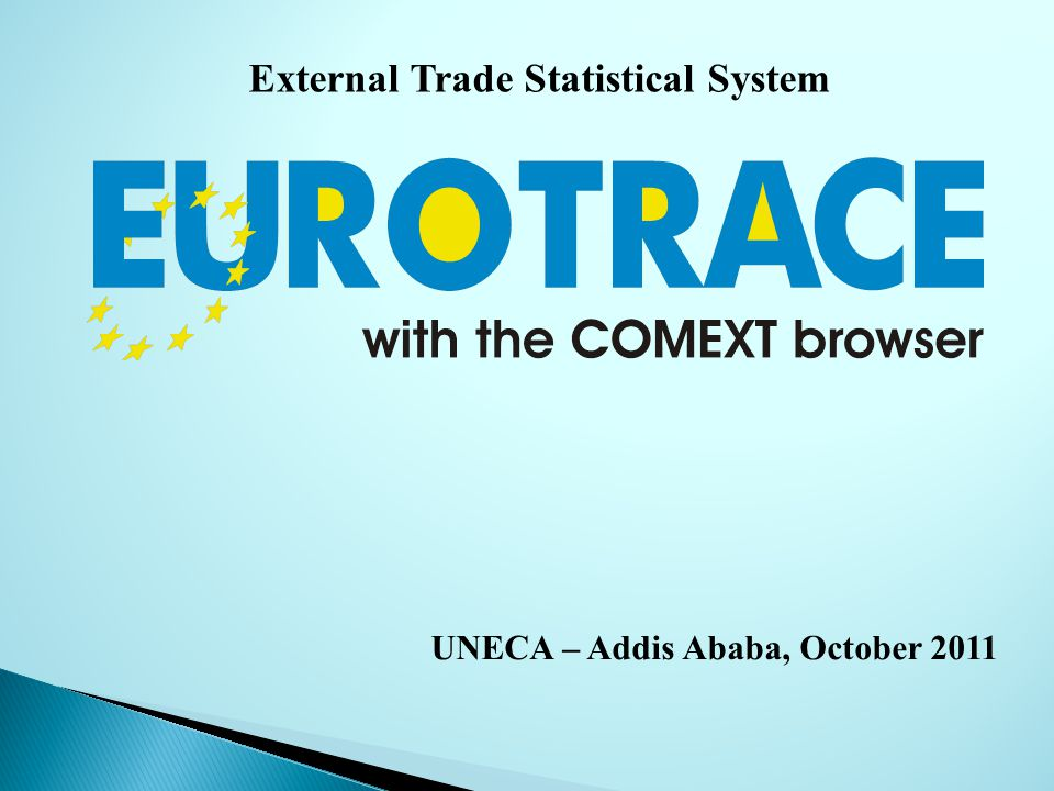 External Trade Statistical System UNECA – Addis Ababa, October 2011