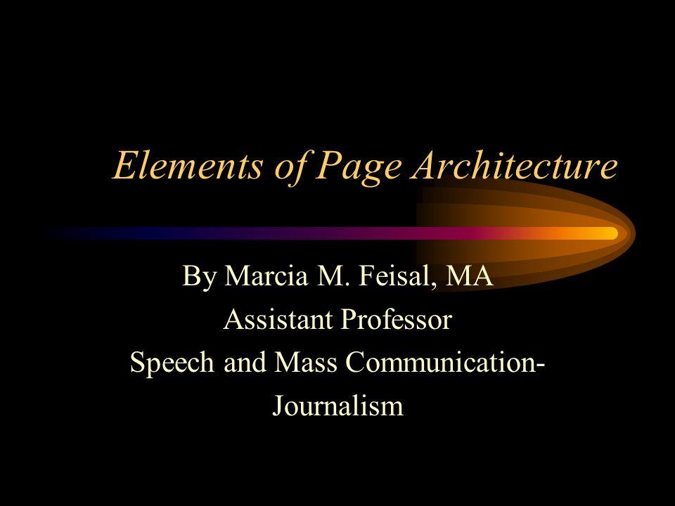 10 Elements of Print Page Architecture CAPTIONS CONT.