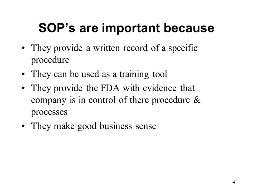 Why Sop Is Used. Standard Operating Procedure Document Template