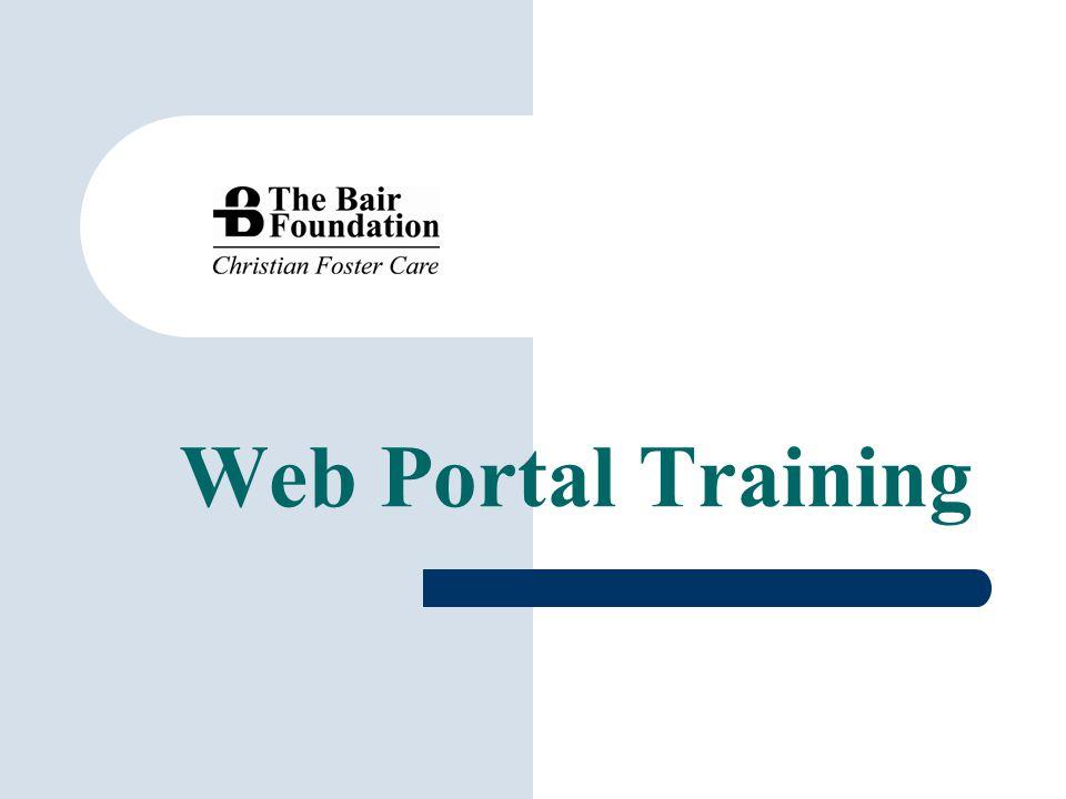 Web Portal Training