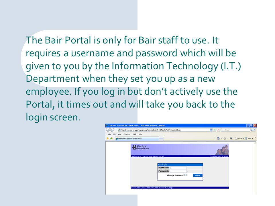 You can choose from two divisions: General Employee Resources will take you to documents that apply to every Bair office.