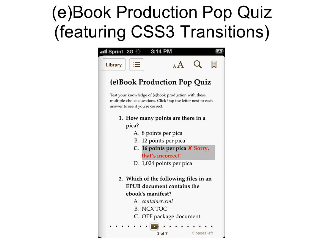 (e)Book Production Pop Quiz (featuring CSS3 Transitions)