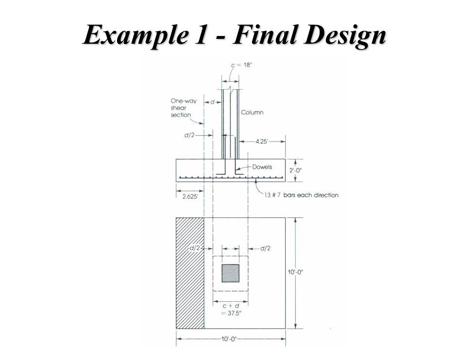 Example 1 - Final Design