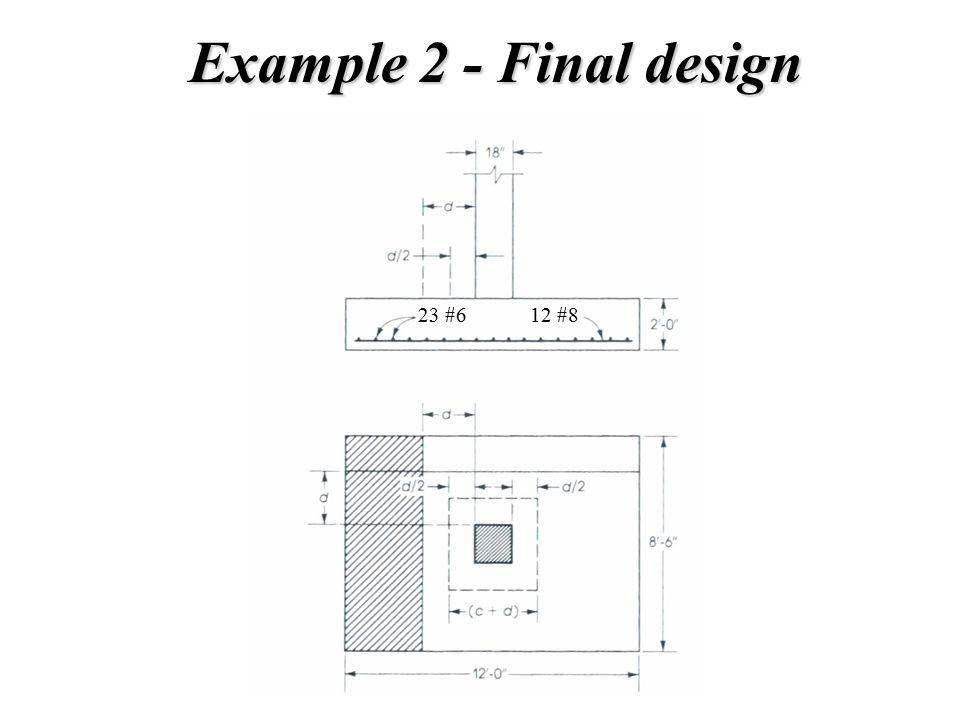 Example 2 - Final design 12 #823 #6