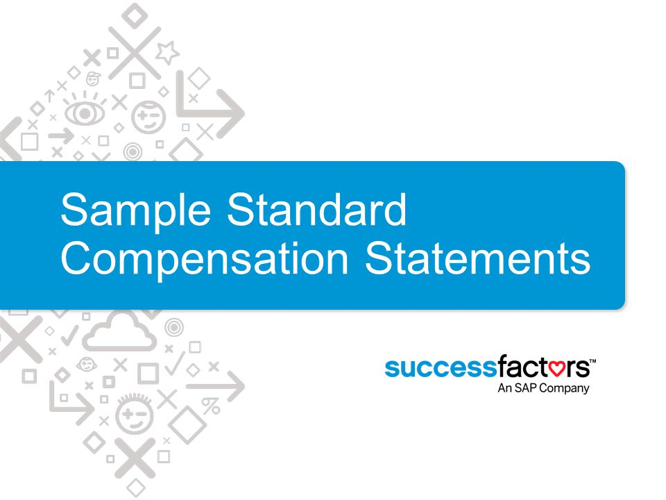 Sample Standard Compensation Statements