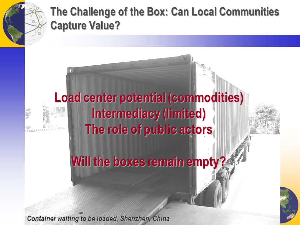 The Challenge of the Box: Can Local Communities Capture Value.