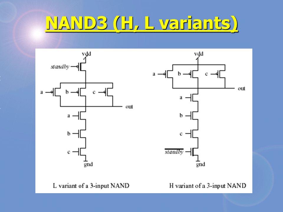 NAND3 (H, L variants)