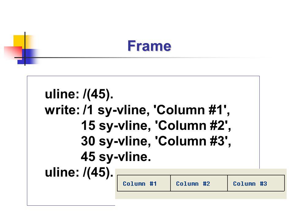 Frame uline: /(45).