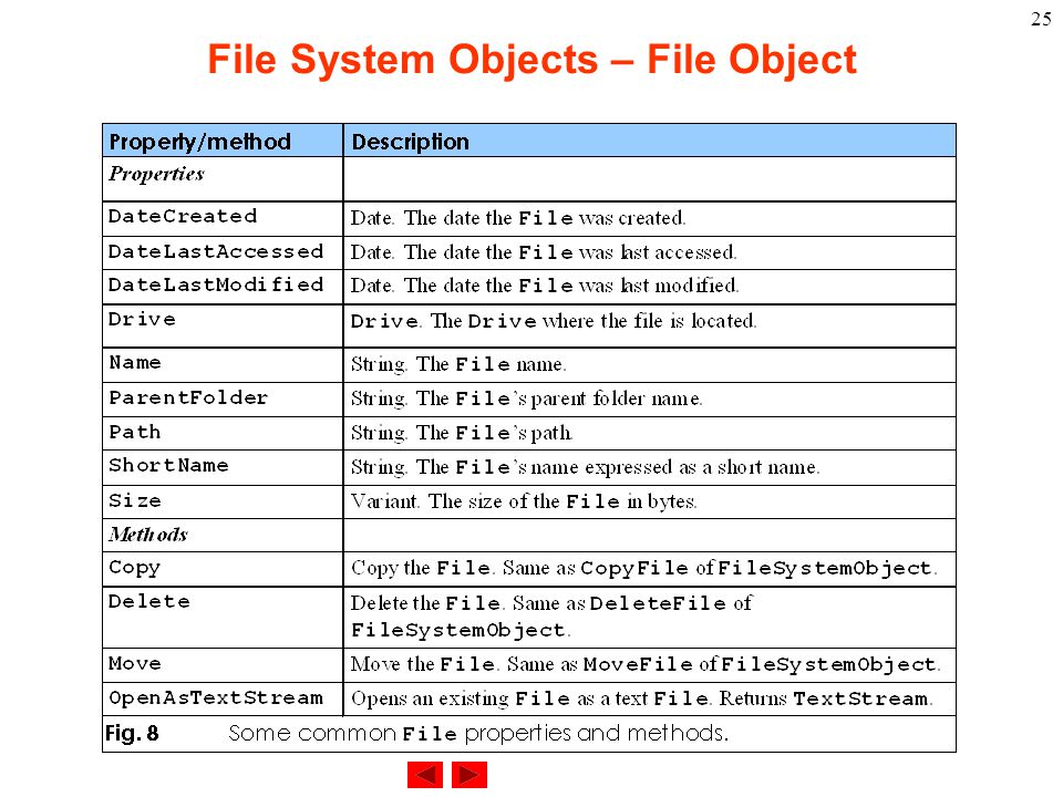 25 File System Objects – File Object