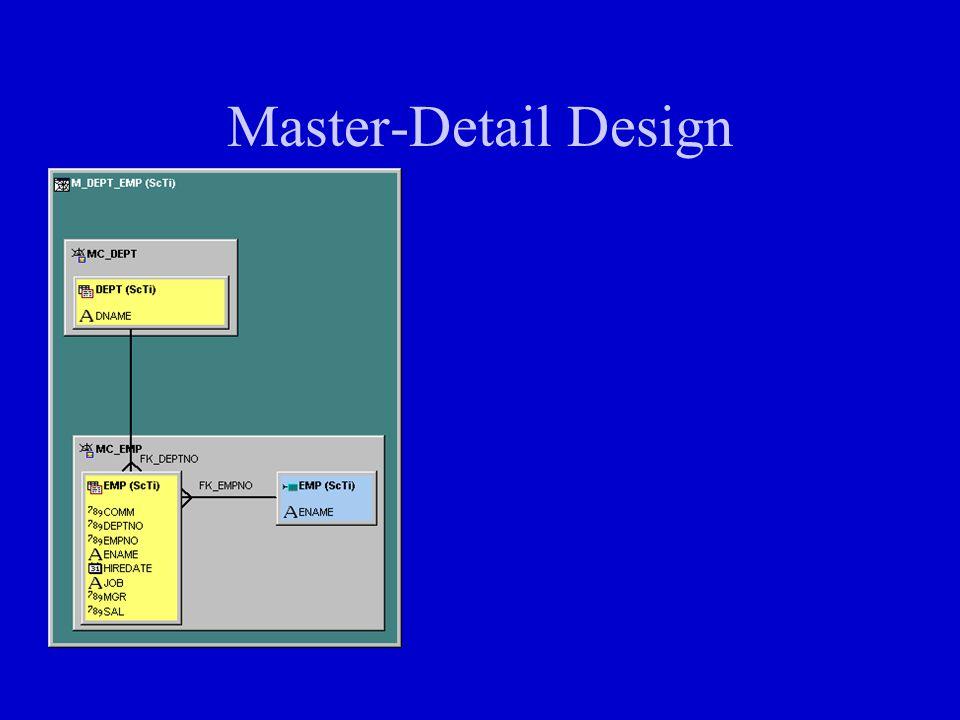 Master-Detail Design