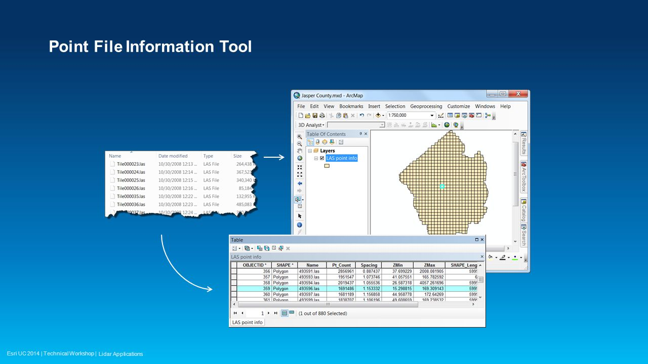Esri UC 2014 | Technical Workshop | Point File Information Tool Lidar Applications