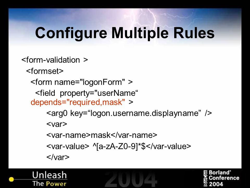 Configure Multiple Rules mask ^[a-zA-Z0-9]*$ …
