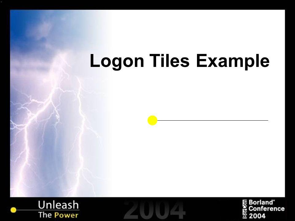 Logon Tiles Example