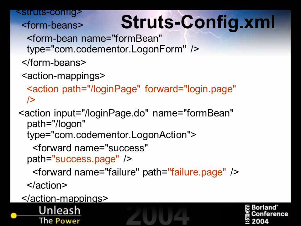 Struts-Config.xml