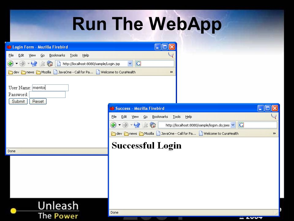Run The WebApp