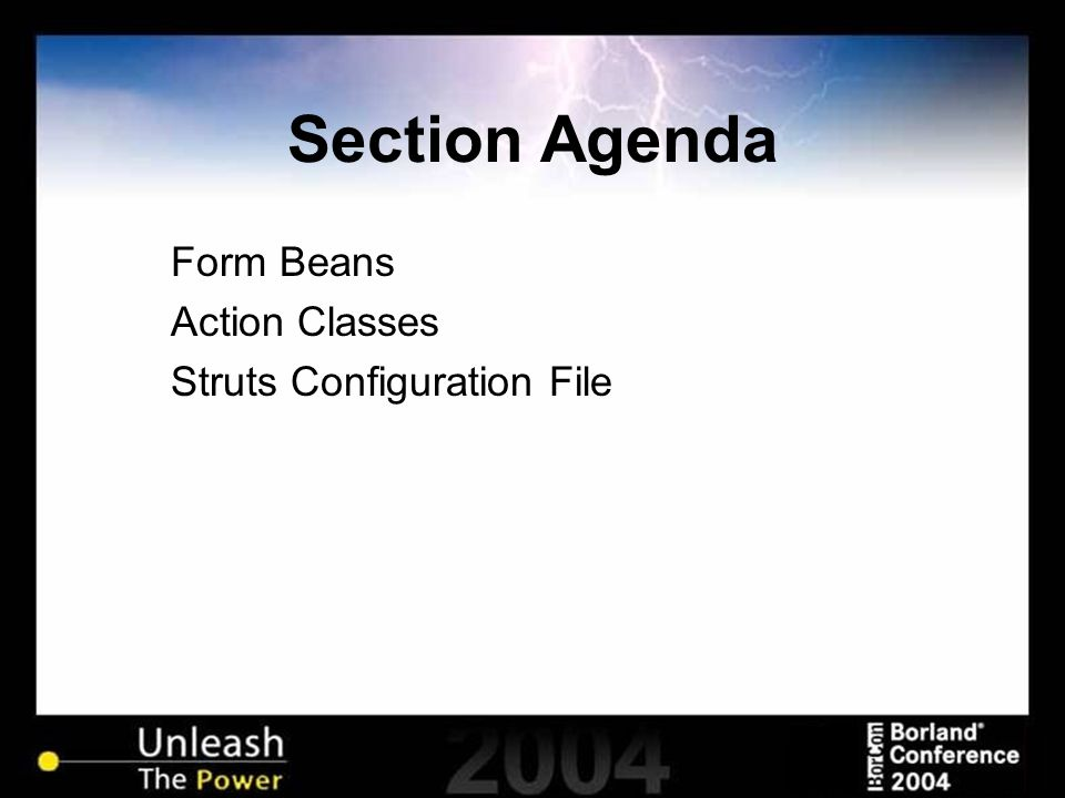 Section Agenda Form Beans Action Classes Struts Configuration File