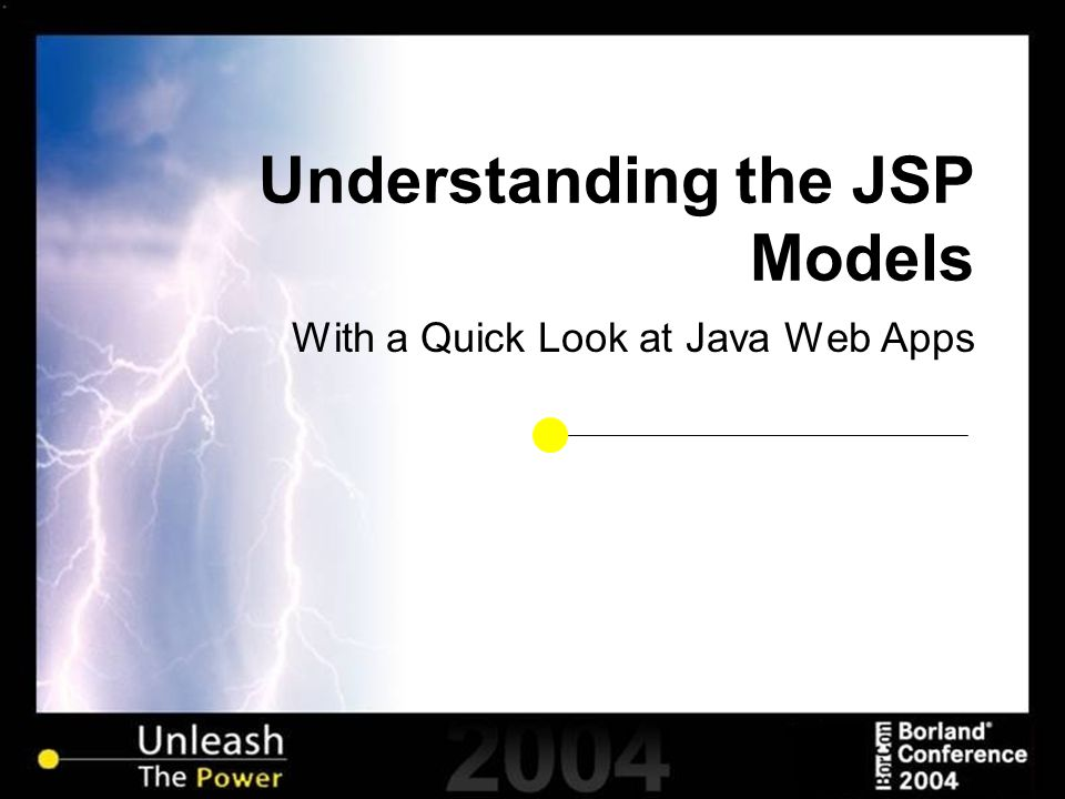 Understanding the JSP Models With a Quick Look at Java Web Apps