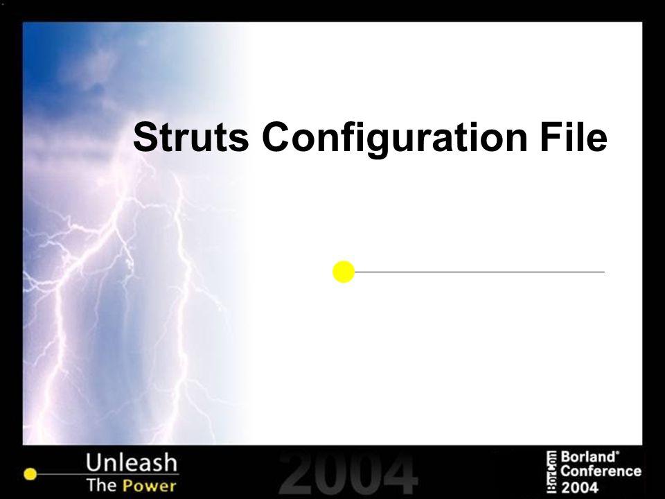 Struts Configuration File