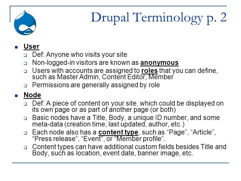 Drupal Terminology p.