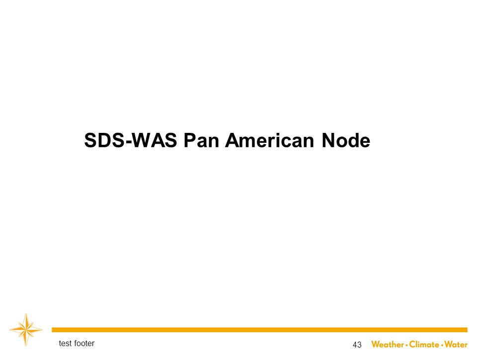 SDS-WAS Pan American Node test footer 43
