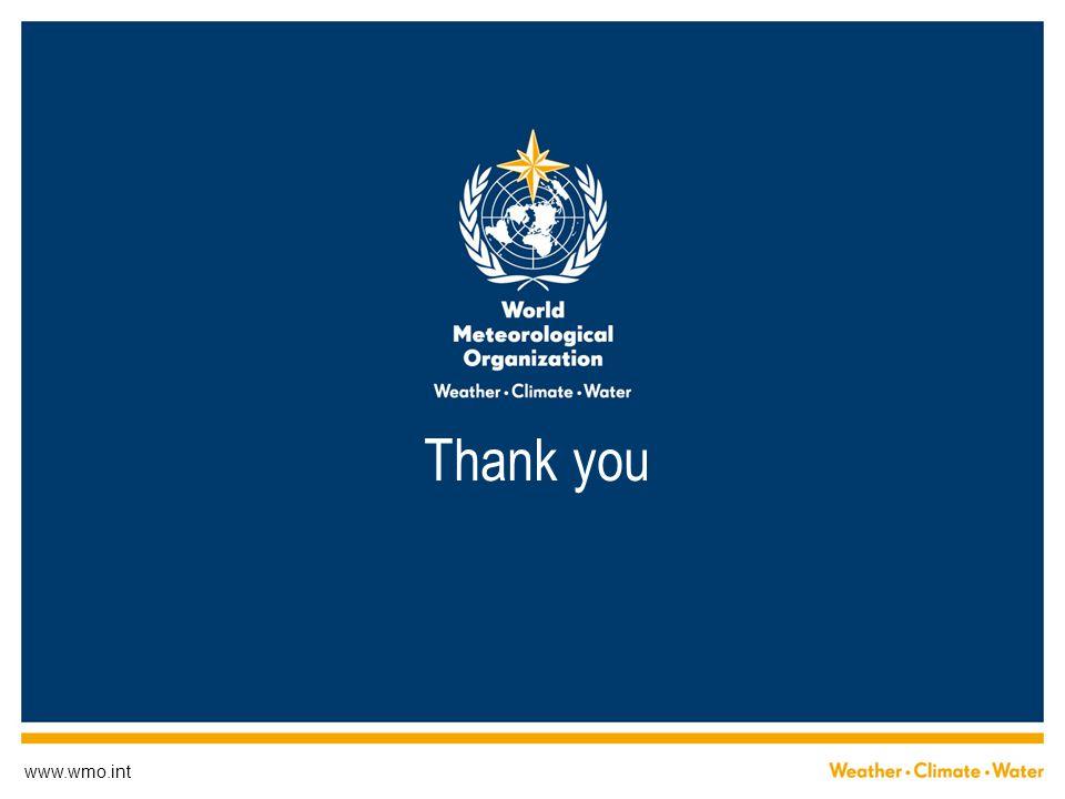 www.wmo.int Thank you