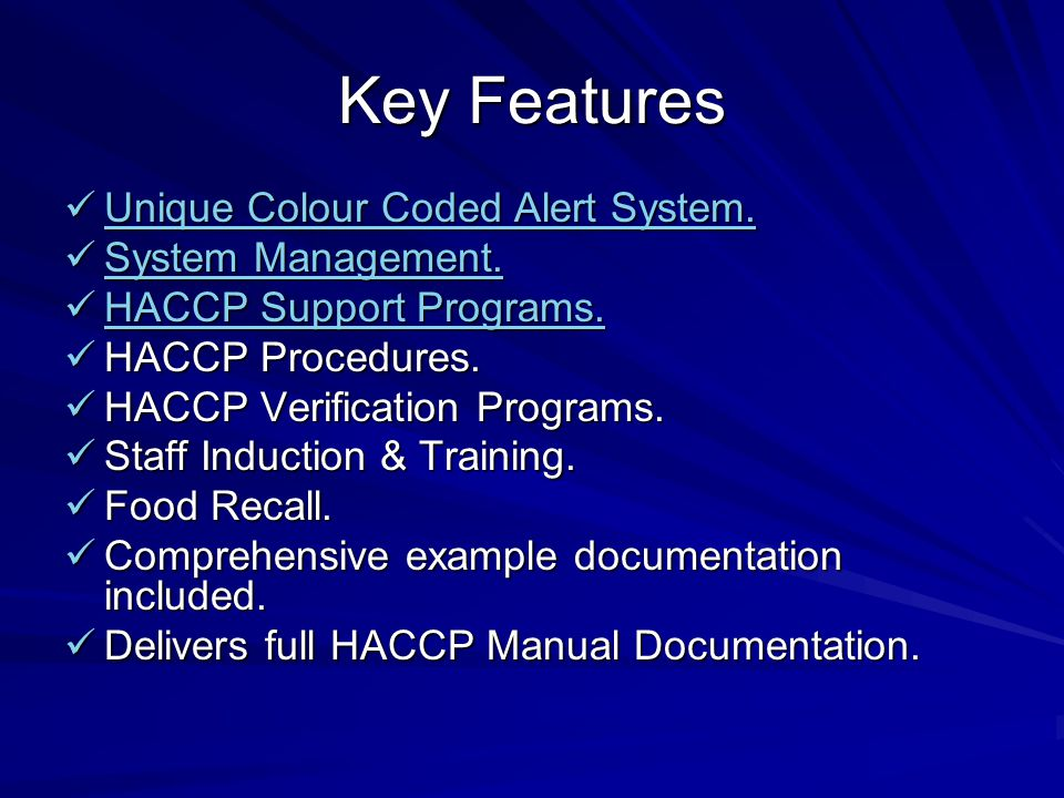 Procedure Entry – HACCP Audit Table Blanks in HACCP Audit Table will appear Red (Specify……..)