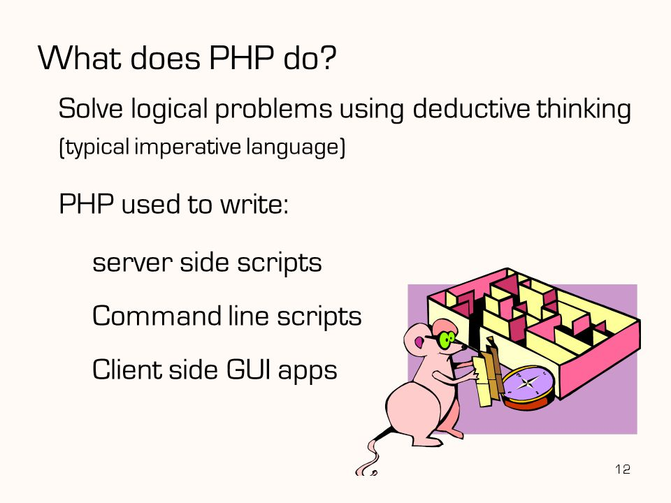 What does PHP do.