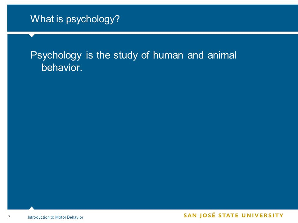 8 How is psychology organized.