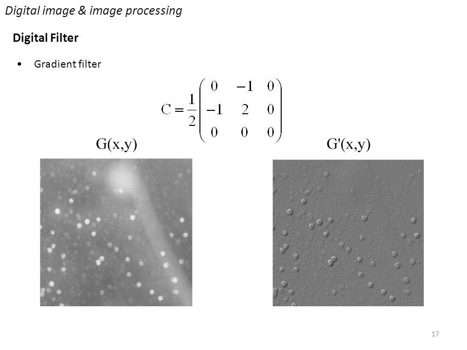 17 Digital image & image processing Digital Filter Gradient filter