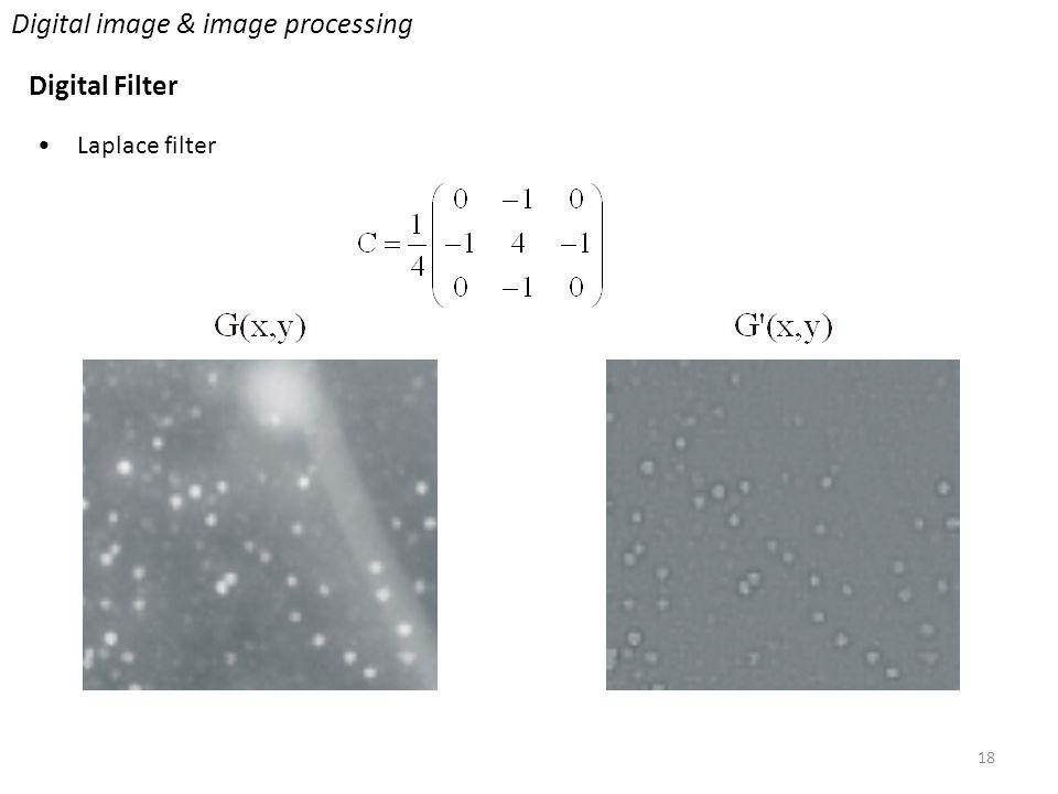 18 Digital image & image processing Digital Filter Laplace filter