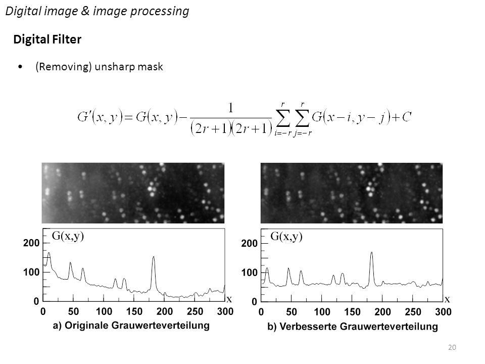 20 Digital image & image processing Digital Filter (Removing) unsharp mask