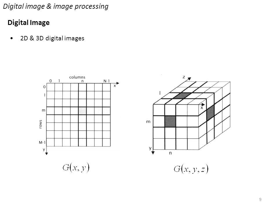 9 Digital image & image processing Digital Image 2D & 3D digital images