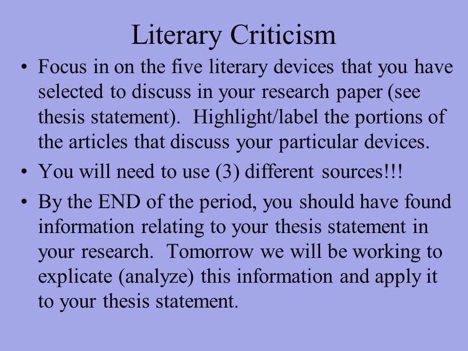 literary thesis statemetns Themes are the fundamental and often universal ideas explored in a literary work the destructiveness of a love that never changes catherine and heathcliff's passion for one another seems to be the center of wuthering heights, given that it is stronger and more lasting than any other emotion displayed in the novel, and that it is the source of.