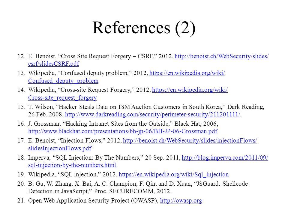References (2) 12.E.
