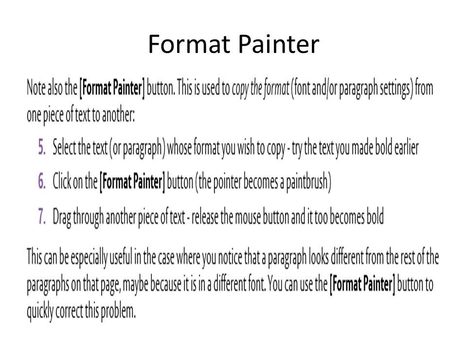 Format Painter