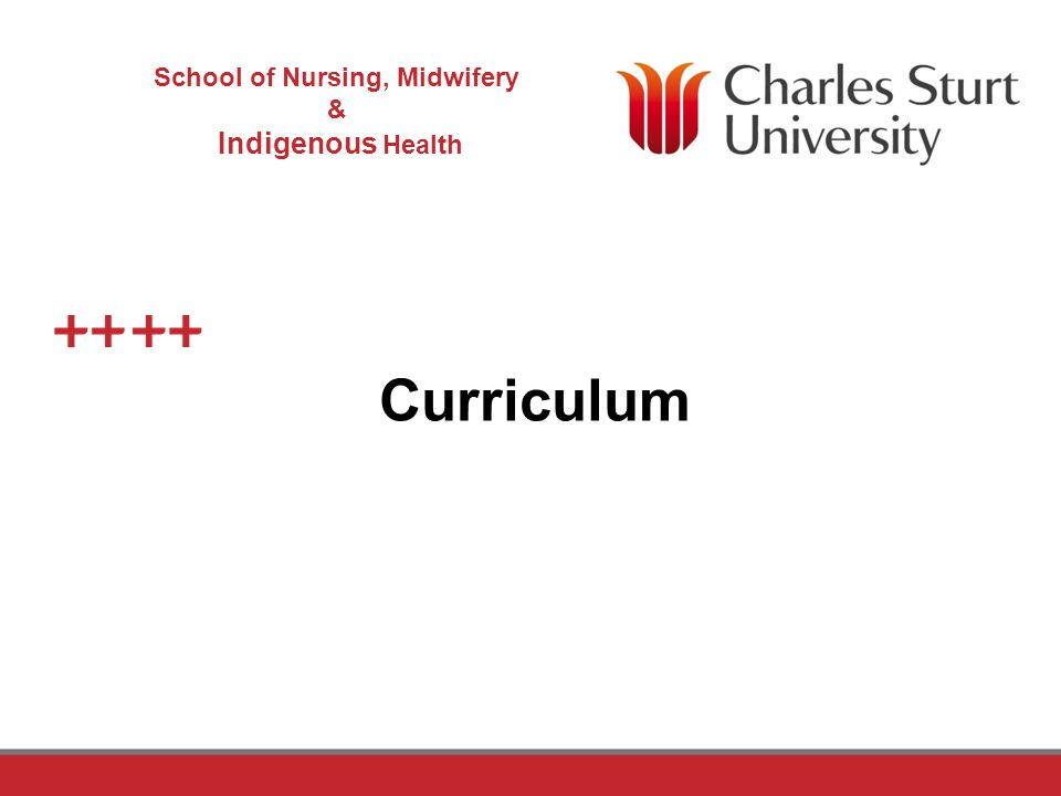 DO NOT PLACE ANY TEXT OR GRAPHICS ABOVE THE GUIDELINE SHOWN DO NOT PLACE ANY TEXT OR GRAPHICS BELOW THE GUIDELINE SHOWN TO EDIT GRAPHICS IN THE MASTER SELECT: VIEW > SLIDE MASTER TO APPLY PAGE STYLES RIGHT CLICK YOUR PAGE >LAYOUT School of Nursing, Midwifery & Indigenous Health TO EDIT THE FOOTER IN THE MASTER SELECT: VIEW > SLIDE MASTER Why the Curriculum changed Importantly to meet the identified needs of Industry And for ease of evolvement as the need for change occurs over time